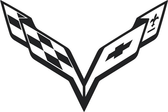 Corvette symbol black (2011) 1440x900