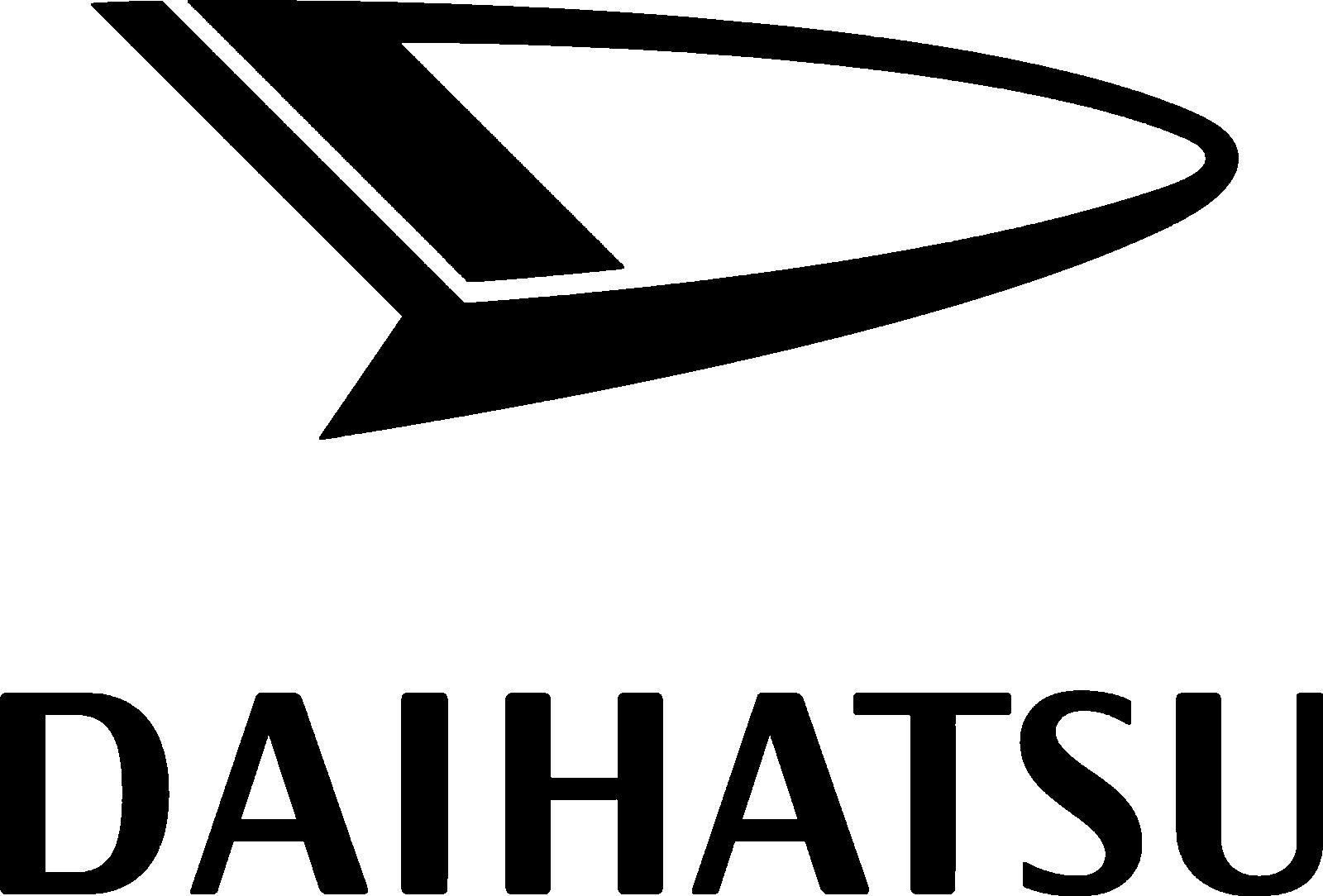 Daihatsu Logo 1977 (black) 1600x1084 HD png