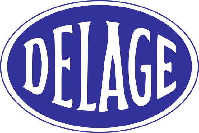Delage Logo (blue) 1440x900 Png