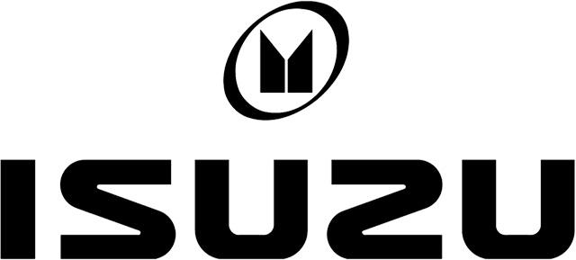 Isuzu Logo (black) 2560x1440 HD png
